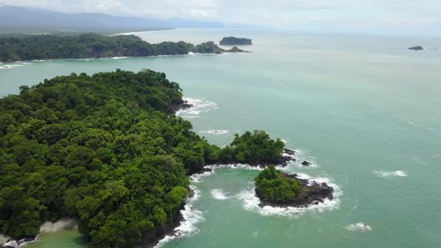 Aerial Drone Costa Rica Pacific Ocean