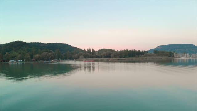 Aerial drone footage from a lake Balaton of Hungary Aerial drone footage from a lake Balaton of Hungary hungary stock videos & royalty-free footage