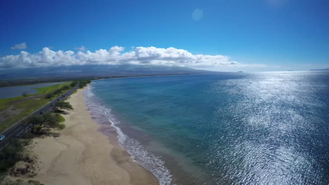 4K Aerial Drone Maui, Hawaii Beach Coast video