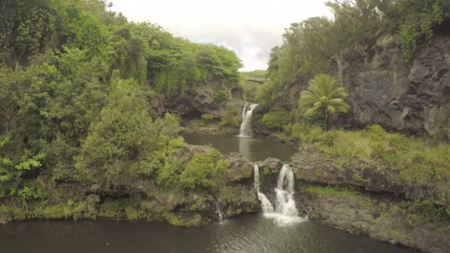 4K Aerial Drone Maui, Hawaii, waterfall Hana Maui video