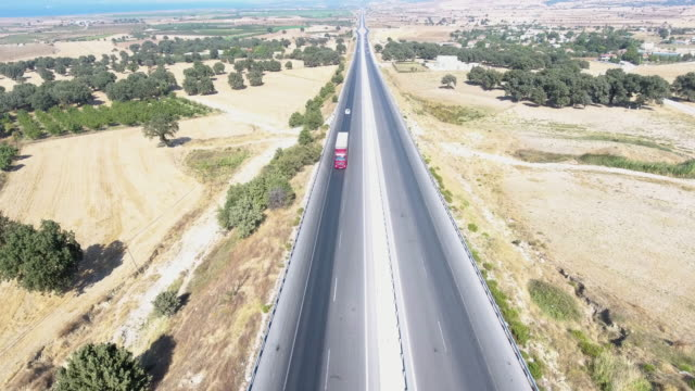 Aerial Drone Perspective Of Road video