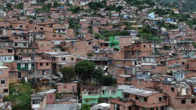 コロンビアの大都市の空中ドローンショット - コロンビア点の映像素材/bロール