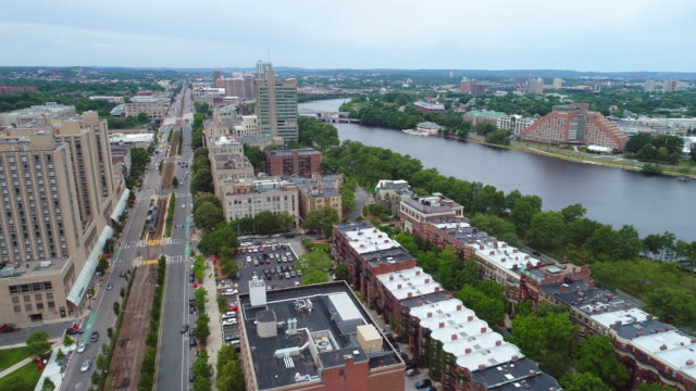 Aerial drone video Boston Massachusetts video