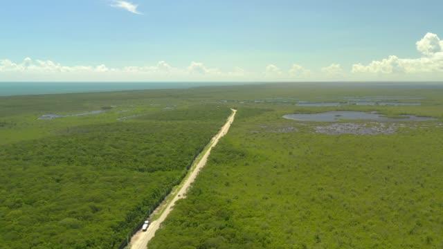 Aerial drone video Card sound Road Key Largo Florida