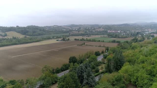 Aerial drone video of an old romanesque cathedral in Italy video
