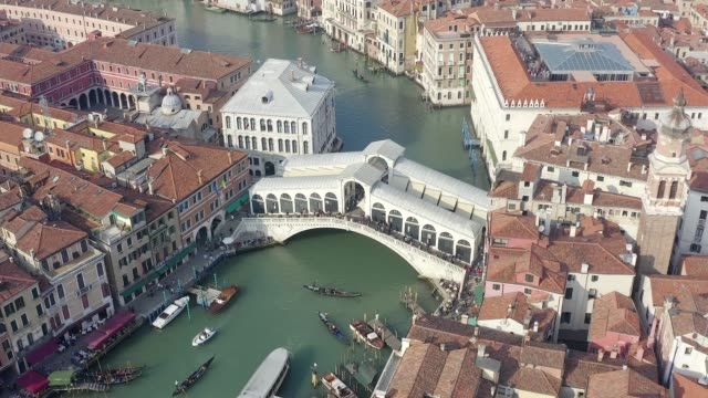 Aerial drone view at the Grand Canal - Venice, Italy Aerial drone view at the Grand Canal with a view of Venice, Italy lombardy stock videos & royalty-free footage