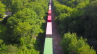 istock Aerial Drone View: Freight Train 1164742523