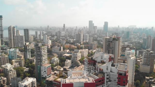Aerial Drone View Mumbai City, Maharashtra