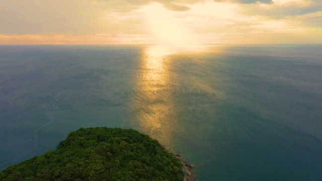 Aerial drone view of beautiful tropical Ko Man paradise island in Thailand