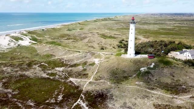 aerial drone utsikt över lyngvig fyr i danmark - dansk kultur bildbanksvideor och videomaterial från bakom kulisserna