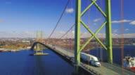 istock Aerial Drone View of MacKay Bridge 1224663224