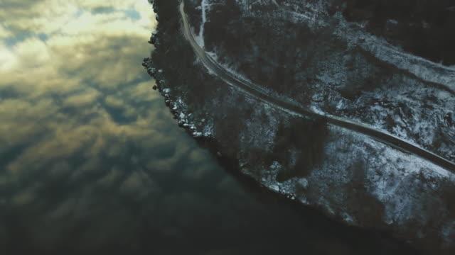 vídeos y material grabado en eventos de stock de vista aérea drone: los fiordos de noruega - bergen