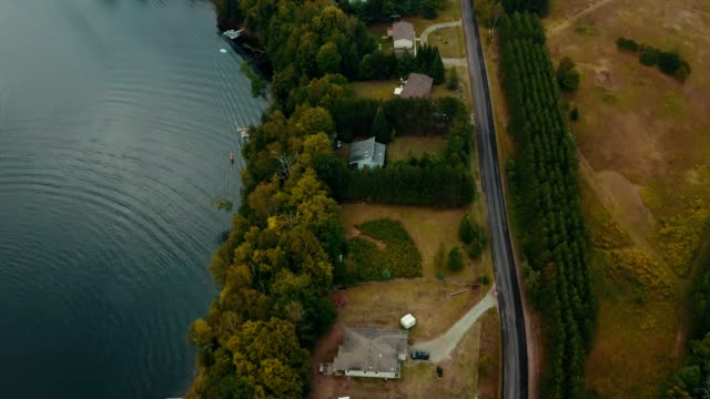 Video 4K Aerial Establishing Shot of Cottage Country.