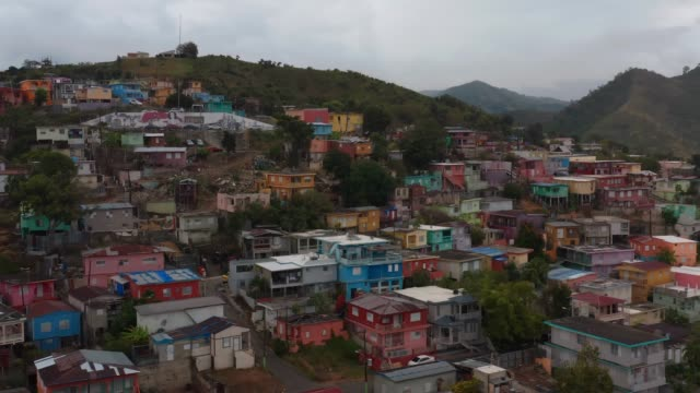 Aerial establishing shot of Yauco, Puerto Rico after a series of earthquakes. Aerial establishing shot of Yauco, Puerto Rico after a series of earthquakes. Cinematic 4K footage. puerto rico stock videos & royalty-free footage
