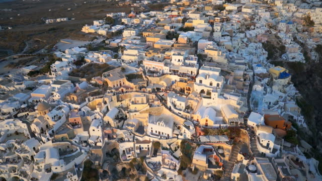 HD Aerial filming of Oia, Santorini video