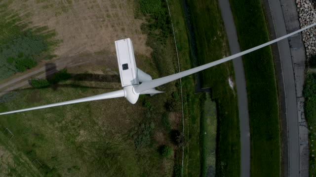Aerial flight close to a Windmill video