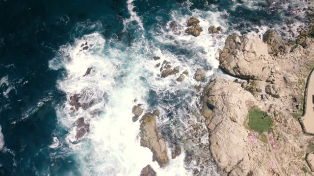 Aerial Flight Over Rocky Shoreline video