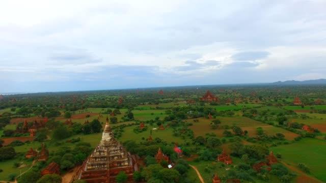 aerial flight over Shwe San Daw Pagoda video