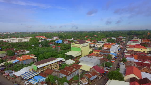 aerial : fly back revealing an Asia road village aerial drone shot : fly back revealing an Asia road village back to back stock videos & royalty-free footage