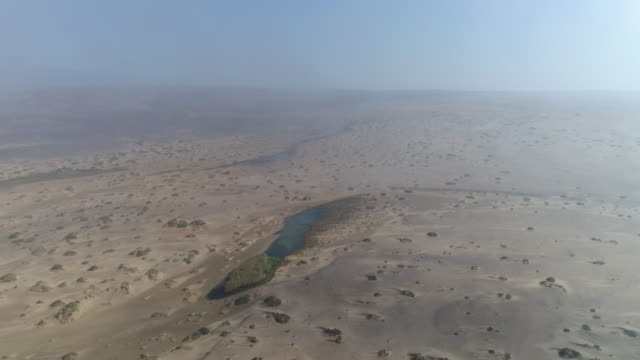 4K Aerial fly over view of the quick sands oasis in the Namib desert, Skeleton Coast,Namibia 4K Aerial fly over view of the quick sands oasis in the Namib desert, Skeleton Coast,Namibia desert oasis stock videos & royalty-free footage