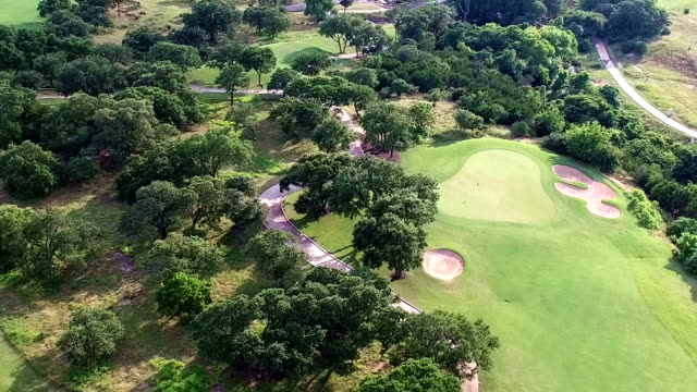 Aerial Flying Over Golf Course Central Texas Round Rock Austin Hill Country Shot in 4K video