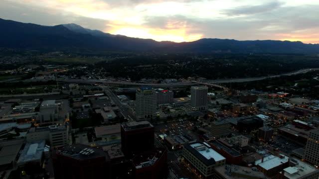 Aerial Flyover of downtown Colorado Springs video
