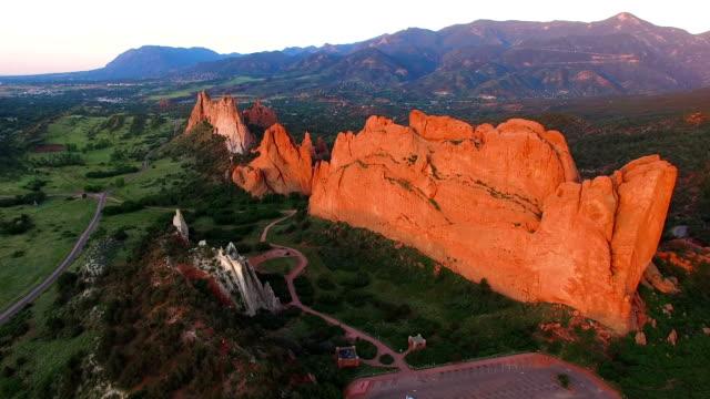 Aerial Flyover of Garden of the Gods in Colorado Springs, Colorado