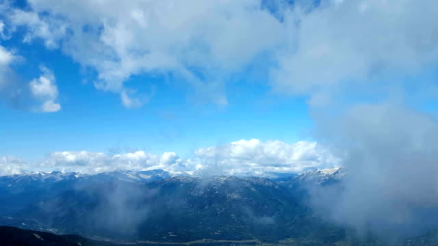Aerial Flythrough Of The Mountains And Clouds On A Clear Day video