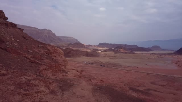4K Aerial Footage in the Timna National Park