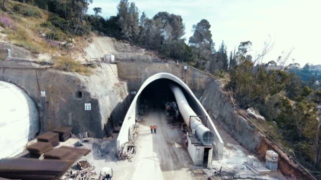 空中觀看大型公路建設專案 - 橋 建築物 個影片檔及 b 捲影像