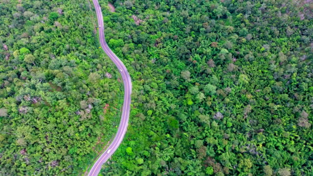 Aerial footage of a mountain road video