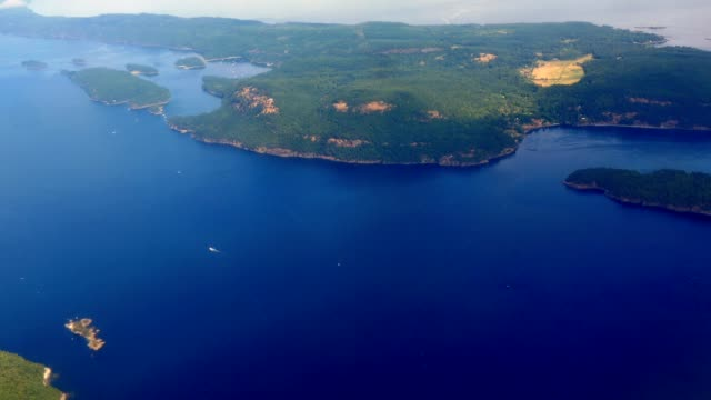 Aerial Footage of Active Pass between Galiano and Mayne Island, Gulf Islands BC video