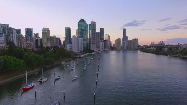 Aerial footage of Brisbane City video