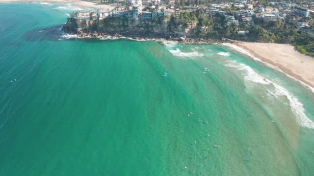 Aerial Footage of Freshwater Beach, Sydney, NSW, Australia