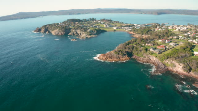 Aerial Footage of Snug Cove and Eden, NSW, Asutralia