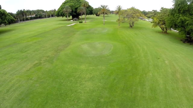 Aerial footage of the Coral Gables Golf Course video