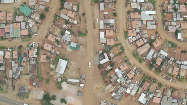 Aerial footage of the empty streets in South Africa during Covid-19 lockdown