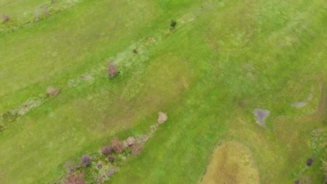 Aerial footage overlooking a golf course video