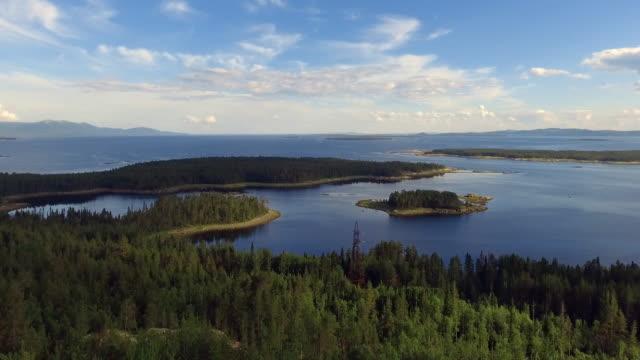 aerial skogsutsikt på sommaren med bra väder - finland bildbanksvideor och videomaterial från bakom kulisserna