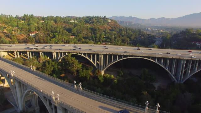 Aerial Freeway Bridge