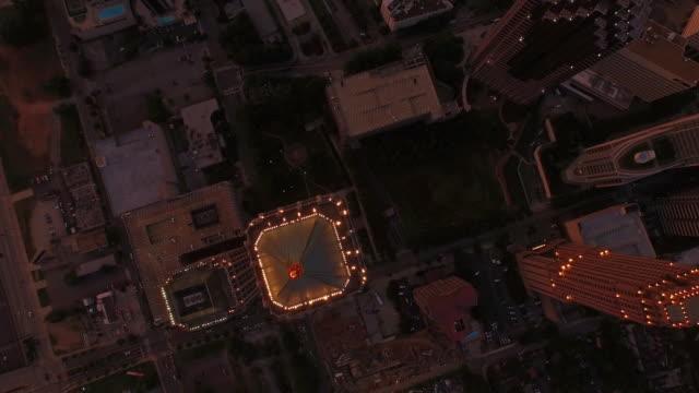 Vista aérea de la ciudad de Atlanta, Georgia - vídeo