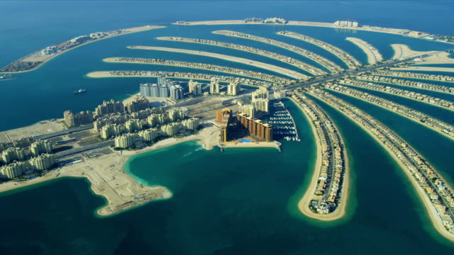 Aerial Golden Mile, Palm Jumeirah, Dubai video
