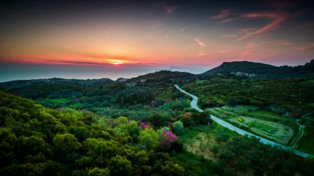 Aerial: Greek Landscape on Corfu Island