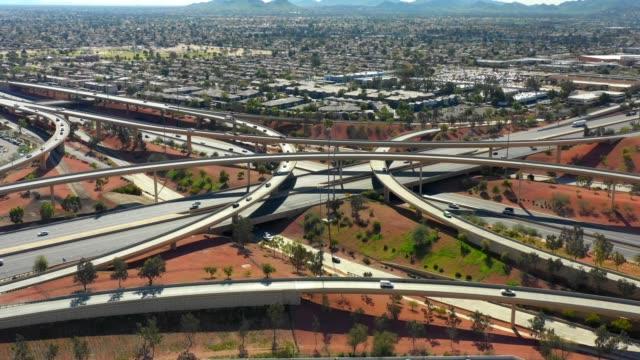 Aerial highway interchange Phoenix AZ