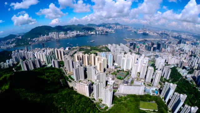 Aerial Hong Kong Pan Shot 4K. video