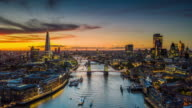 istock Aerial Hyperlapse of London City and the Tower Bridge 1196816994
