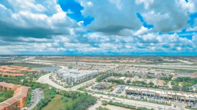 Aerial Hyperlapse of neighborhoods in Broward County, Florida video