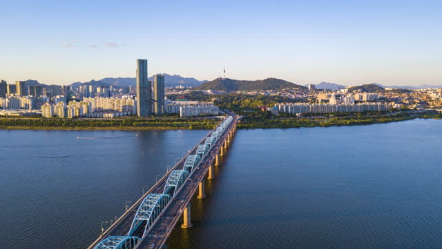 Aerial hyperlapse video of Seoul City,South Korea.Timelapse 4k Aerial hyperlapse video of Seoul City,South Korea.Timelapse 4k seoul stock videos & royalty-free footage