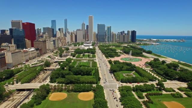 aerial illinois chicago - strandnära bildbanksvideor och videomaterial från bakom kulisserna