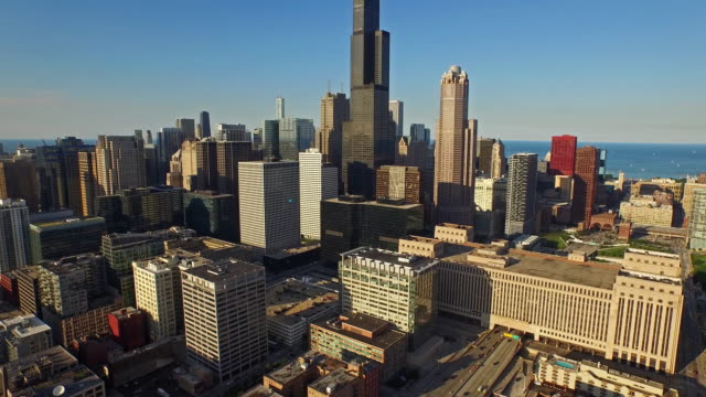 Vista aérea de Chicago, Illinois - vídeo
